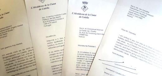 Cartes enviades als mandataris europeus