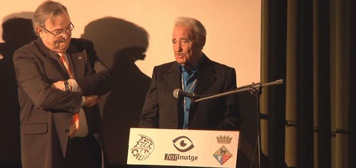 Forcano en l'homenatge que se li va fer pel Festimatge del 2011