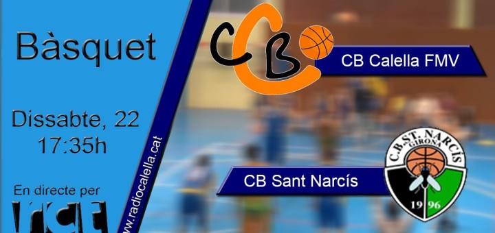 [Vídeo] [Transmissió Esportiva] Bàsquet: CBCalella – CB Sant Narcís
