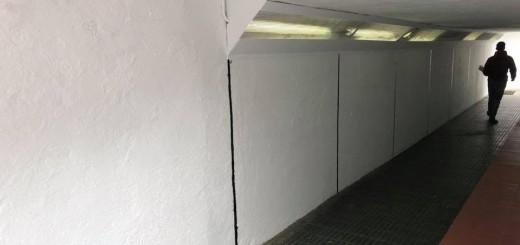 Un dels passos soterranis reservats per pintar grafits