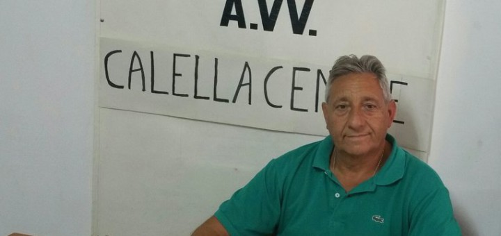 Manuel Garcia és el president de l'Associació de Veïns Calella Centre