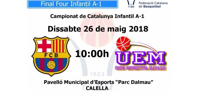 [Vídeo en directe] [Transmissió Bàsquet] Campionats de Catalunya Infantil A-1: FC Barcelona – Platges de Mataró