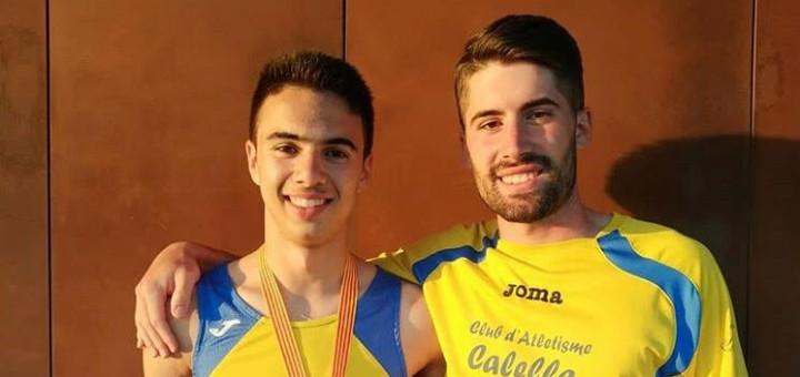 Toni Janer amb el seu entrenador, Albert Puig