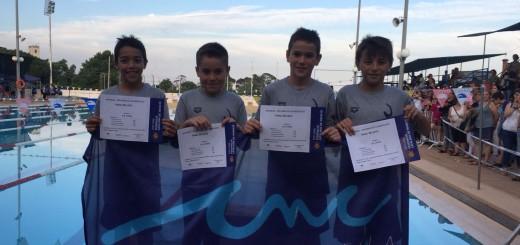 Equip de relleus masculins de 4X50 estils guanyador de la final a Reus