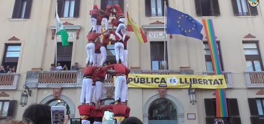 Els Maduixots han descarregat el 5d7 a Lloret. Foto: Castellers de l'Alt Maresme