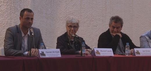Muriel Casals en la seva última visita a Calella amb motiu dels actes de Ciutat Gegantera, l'any 2013