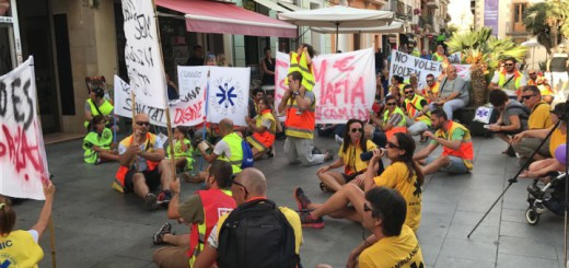 Acte de protesta dels treballadors de les ambulàncies, agost passat