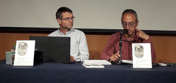 Xavier Soldevilla, a l'esquerra, en un acte a Malgrat de Mar