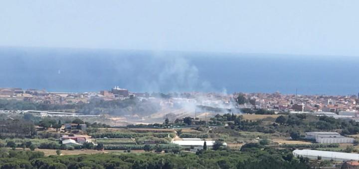 Incendi urbà Malgrat de Mar  (Foto: ADF)