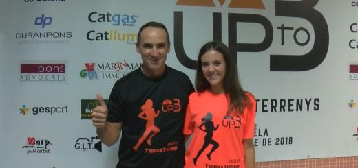 """Xavi Alonso i Janina Morell, a la presentació de la cursa """"Up to three"""""""