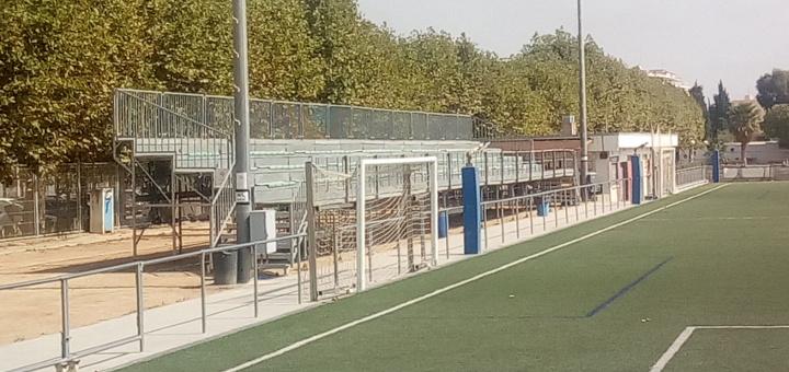 Graderies del Camp de Futbol de Mar, aquest matí