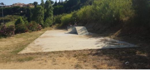 Imatge de l'actual skate park de La Muntanyeta