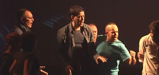 Jordi Coll, al centre, durant la representació de Jesucrist Superstar