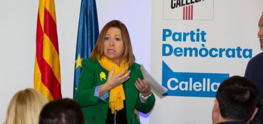 Intervenció de Montserrat Candini a l'assemblea del PDeCAT celebrada ahir (FOTO:  @Pdemocratacat)