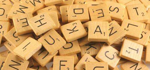 Scrabble, Scrabblesteine mit Buchstaben
