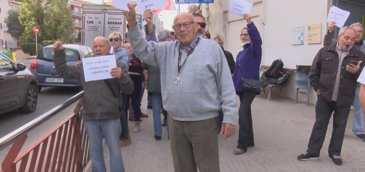 Membres de la Marea Blanca protestant per les retallades durant la vaga del passat mes de novembre