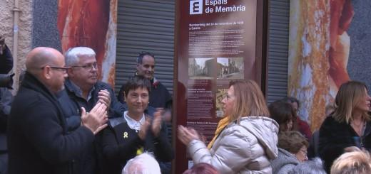 Monòlit en honor a les víctimes del bombardeig del 1938.