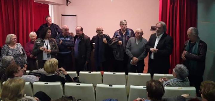 Granyó (el segon per l'esquerra) acompanyat dels membres de la nova junta directiva