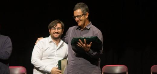 Lluc Vizentini i Dani Gasulla rebent el Premi Mestre Conrad Saló de La Bisbal d'Empordà