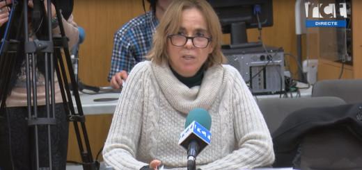 La Síndica Municipal, Sílvia López, durant la presentació del balanç de la seva activitat l'any 2018