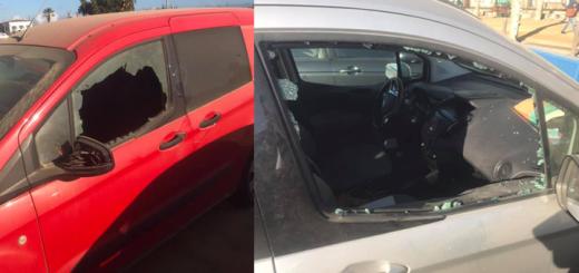 Vehicles amb els desperfectes presumptament provocats pel detingut
