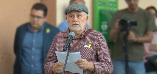 Xavier Gamell en l'acte d'inauguració de la Plaça del Primer d'Octubre
