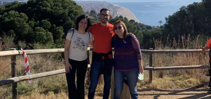 Ponsdomènech  acompanyat de membres d'ERC de Calella
