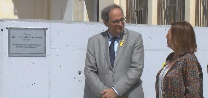 Inauguració de la Plaça Muriel Casals, el setembre del 2018