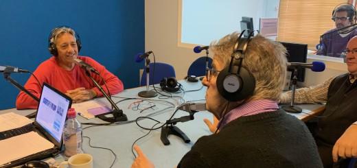 Manuel Garcia (esquerra) a la tertúlia del programa La Ciutat, aquest matí