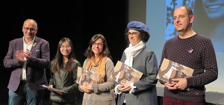 Els guanyadors de la 21a edició del premi Vila de Torelló-GAT Literari.