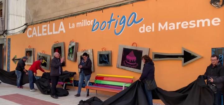 [Vídeo] Un mural artístic que convida a comprar a Calella