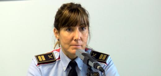 Cristina Manresa en una entrevista als estudis de Ràdio Calella TV (Arxiu)