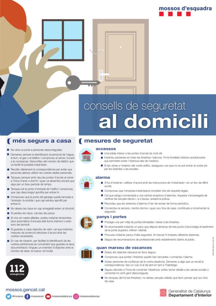 consells mossos domicili 2019