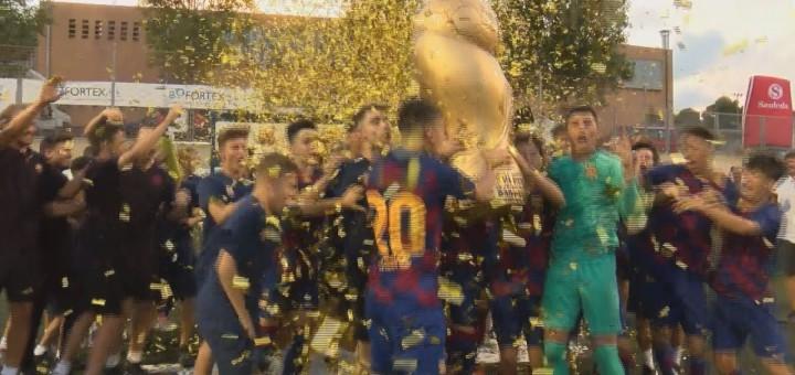 """[Vídeo] El Juvenil """"B"""" del FC Barcelona campió del The Cup 2019"""