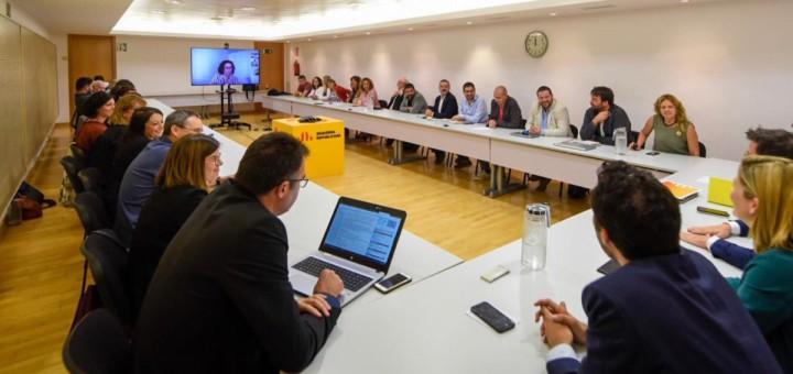 Primera reunió de l'executiva nacional d'ERC, aquest matí (Foto: @ERC)
