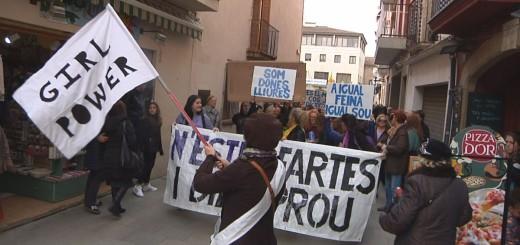 Manifestació feminista del 8M a Calella