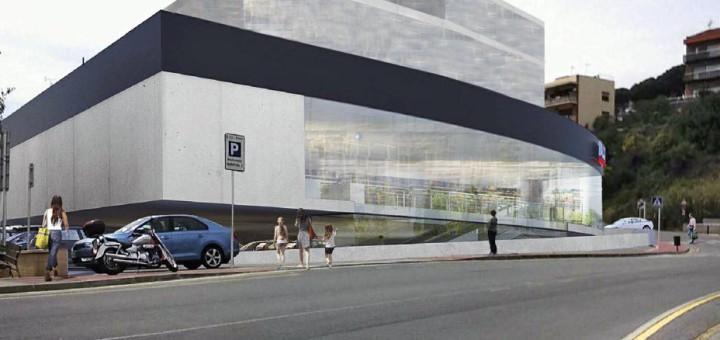 Representació de l'edifici resultant del projecte del nou supermercat
