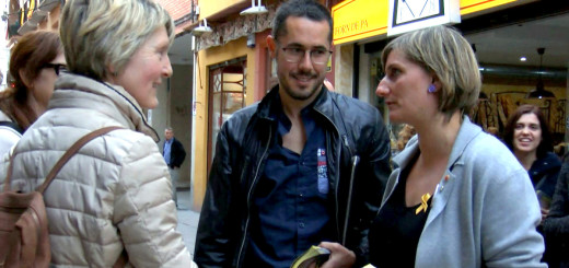 Ponsdomènech amb la consellera de Salut, Alba Vergés, en un acte de campanya de les municipals.