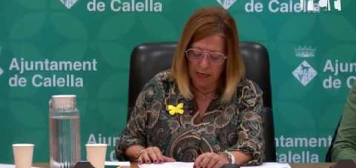 [Vídeo] L'Ajuntament de Calella demana l'amnistia dels presos i exiliats