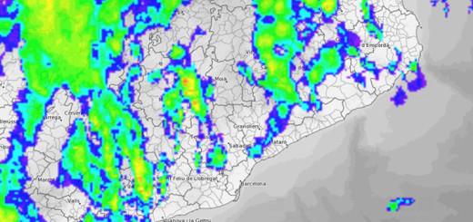 Imatge. Radar Meteocat (14:18h)