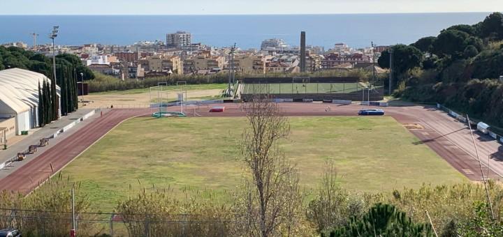Vista de la zona esportiva de la Muntanyeta, on s'hauria produit l'agressió sexual