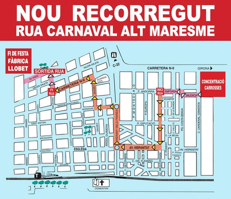 recorregut carnaval