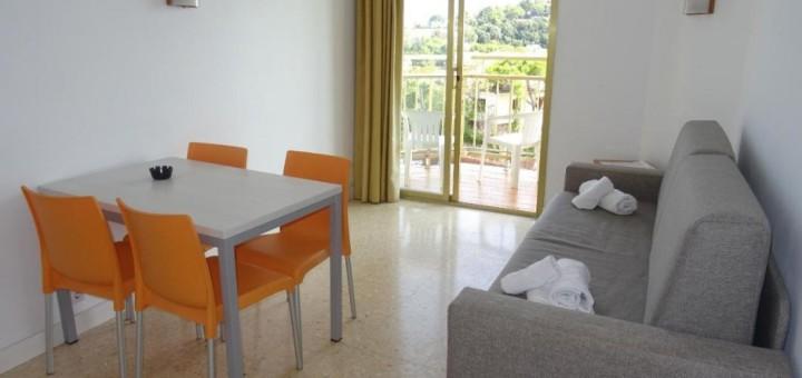 Apartament del complex Bolero Park de Lloret de Mar, que allotja sanitaris de la CSMS