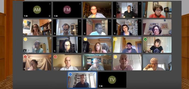 Els patits polítics van celebrar la sessió plenària per via telemàtica
