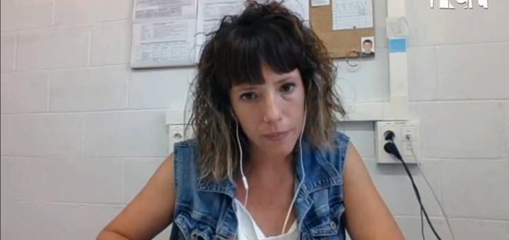 La portaveu de la CUP Calella, Núria Freixas, en l'entrevista al programa La Ciutat