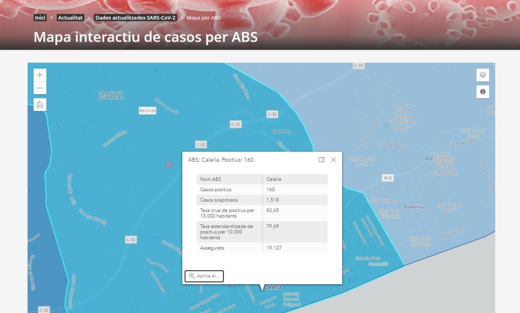 mapa interactiu casos covid19 dm21