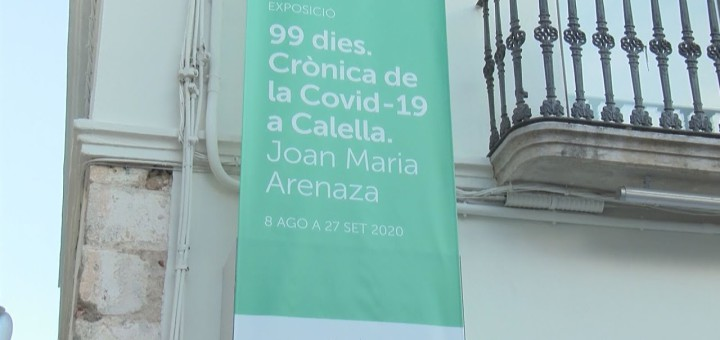 """[Vídeo] El fotògraf Joan Maria Arenaza presenta l'exposició """"99 dies. Crònica de la Covid-19 a Calella"""""""