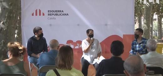 """[Vídeo] Esquerra Republicana presenta a Calella """"Tornarem a vèncer"""", el llibre d'Oriol Junqueras i Marta Rovira"""