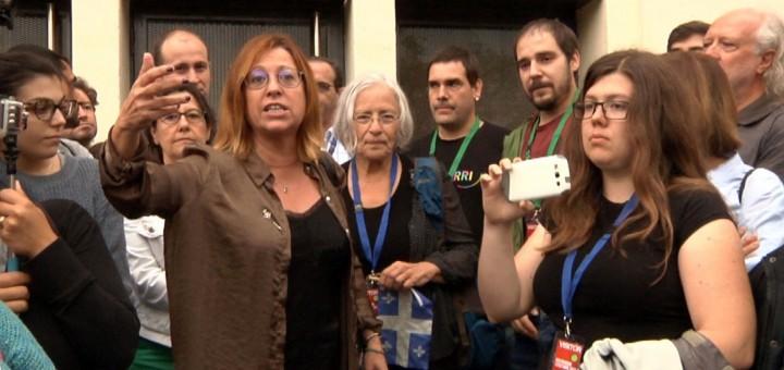 Candini amb el grup d'observadors internacionals que van ser a Calella durant l'1-O