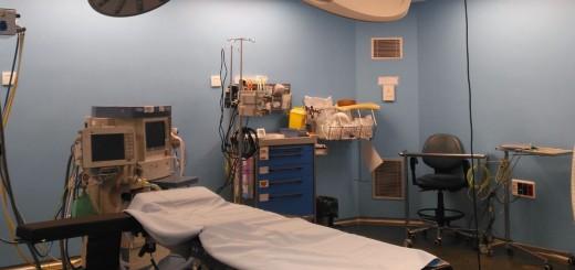 Quiròfan de l'Hospital de Calella (Foto: Corporació Salut del Maresme i la Selva)